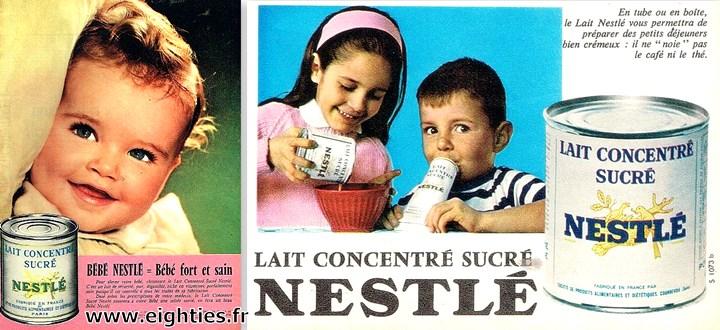 lait concentré sucré de Nestlé publicité ancienne années 60