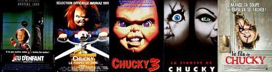 Frise affiches des films Chucky