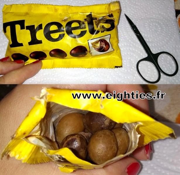 ouverture-d_un_sachet_de_chocolat_treets_des_années_70_vintage_m&m's