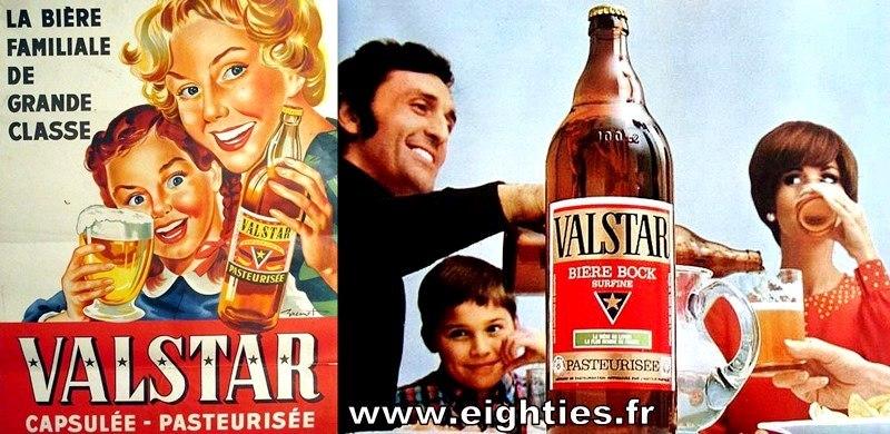 publicités bière Valstar années 70 et 60 valstar rouge
