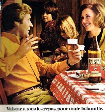 bouteille de bière Valstar litre des années 70