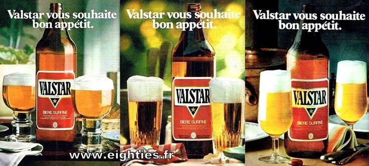 publicités bière Valstar années 70