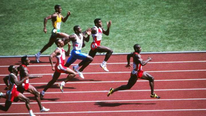 Jeux Olympiques Séoul 1988 Ben Johnson Carl Lewis