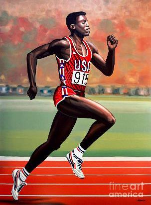 Carl Lewis 100 mètres jeux olympiques