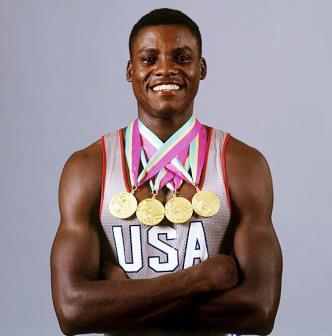 Carl Lewis 4 médailles d'or jeux olympiques années 80