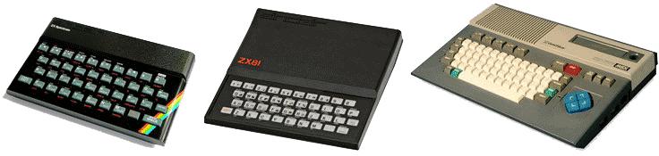 Ordinateurs années 80 Spectrum Sinclair ZX81 MSX