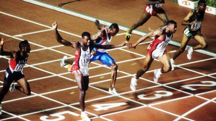 Carl Lewis 100 mètres championnat du monde athlétisme Tokyo 1991