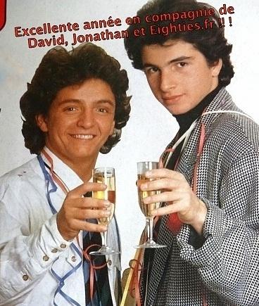 David et Jonathan nouvel an années 80