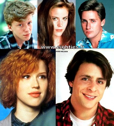 The Breakfast Club Brat Pack années 80