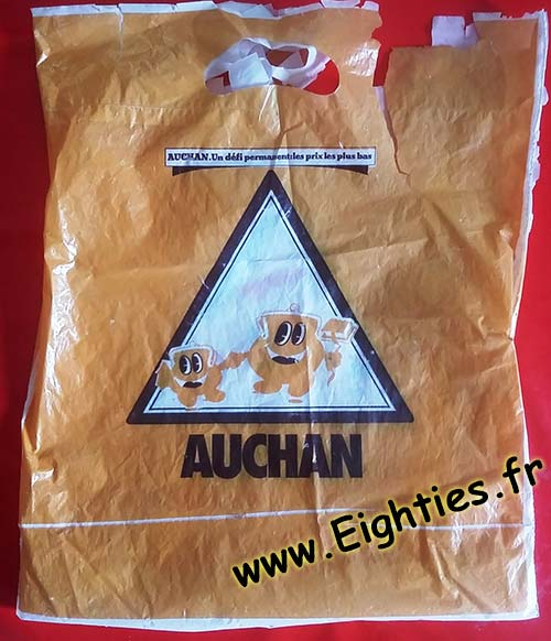 Sac plastique Auchan années 70 80