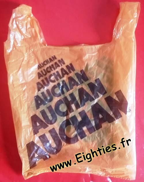 Sac plastique Auchn années 70 80