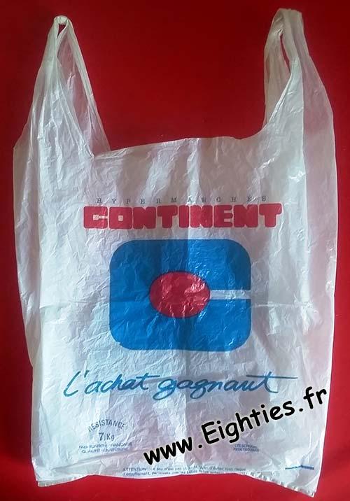 Sac plastique Continent années 80 90