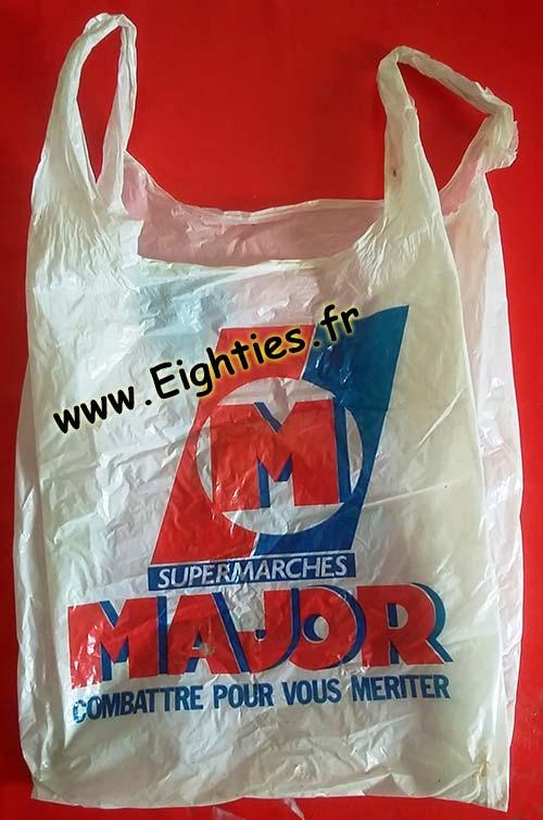Sac plastique Major années 80