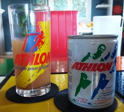 Boisson energisante Athlon des années 80