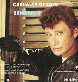 Pochette disque 45 tours Johnny Casualty of love
